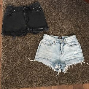 Harley Davidson / BDG by UO high waist shorts